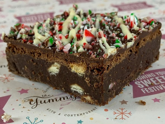 PEPPERMINT CANDY CANE BROWNIE